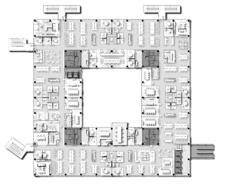 Innovation campus milano for Open plan planimetrie